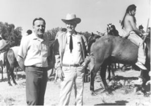 John Popovich and J.K. Ralston, consultants during the filming of Little Big Man, 1969. 2005.02.008.